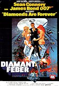 Diamonds Are Forever 1971 Movie poster Sean Connery Guy Hamilton
