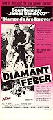 Diamonds Are Forever 1972 Movie poster Sean Connery