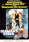 Diamonds Are Forever 1971 Movie poster Sean Connery