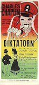 The Great Dictator 1940 Movie poster Charlie Chaplin