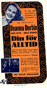 Hers To Hold 1943 Movie poster Deanna Durbin Frank Ryan
