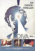 Diva 1984 Movie poster Frederic Andrei Jean-Jacques Beineix