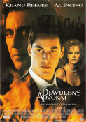 The Devil's Advocate 1997 Movie poster Keanu Reeves