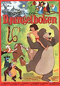 The Jungle Book Walt Disney Movie Poster Sweden 1968