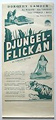 The Jungle Princess 1936 Movie poster Dorothy Lamour