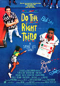 Do the Right Thing 1989 Movie poster Danny Aiello Spike Lee