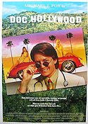 Doc Hollywood 1991 Movie poster Michael J Fox