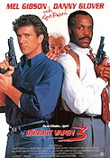 Lethal Weapon 3 1992 Movie poster Mel Gibson Richard Donner