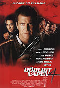Lethal Weapon 4 1998 Movie poster Mel Gibson Richard Donner