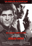 Lethal Weapon 1987 poster Mel Gibson