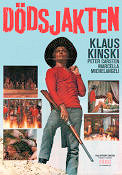 Dödsjakten 1970 Movie poster Klaus Kinski Anthony Dawson