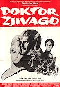 Doctor Zhivago 1966 poster Omar Sharif David Lean