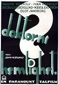 Doktorns hemlighet 1930 Movie poster Erik Bullen Berglund