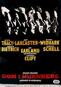 Judgment at Nuremberg 1960 poster Spencer Tracy