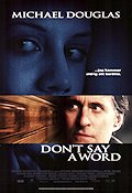 Don´t Say a Word 2001 poster Michael Douglas Gary Fleder