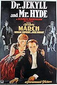 Dr Jekyll and Mr Hyde 1931 Movie poster Fredric March Ro