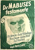 Das Testament des Dr. Mabuse 1933 Movie poster Otto Wernicke Fritz Lang