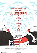 Dr Strangelove 1964 Movie poster Peter Sellers Stanley Kubrick