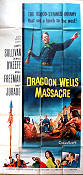 Dragoon Wells Massacre 1957 Movie poster Dennis O'Keefe Harold D Schuster