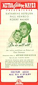 Song of Love 1947 Movie poster Katharine Hepburn