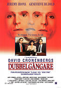 Dead Ringers 1988 Movie poster Jeremy Irons David Cronenberg