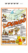 Dumbo 1941 Movie poster Nalle Puh