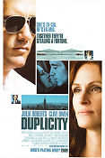 Duplicity 2009 Movie poster Julia Roberts