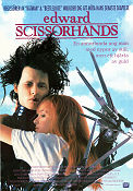 Edward Scissorhands 1990 Movie poster Johnny Depp Tim Burton
