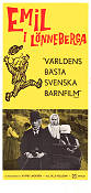 Emil i Lönneberga 1972 Movie poster Olle Hellbom