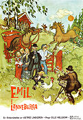 Emil i L�nneberga 1971 Movie poster Olle Hellbom