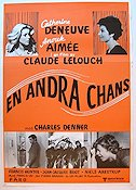En andra chans 1980 Movie poster Catherine Deneuve Claude Lelouch