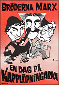 A Day at the Races 1937 Movie poster Bröderna Marx