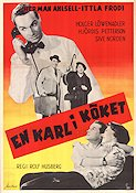 En karl i k�ket 1954 Movie poster Herman Ahlsell