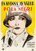 A Woman of the World 1925 poster Pola Negri Malcolm St Clair