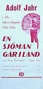 En sjöman går iland 1937 Movie poster Adolf Jahr