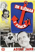 En sjöman i frack 1942 Movie poster Adolf Jahr