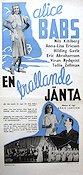 En trallande jänta 1942 Movie poster Alice Babs Börje Larsson