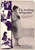 Un semaine de vacances 1982 Movie poster Nathalie Baye Bertrand Tavernier