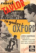 A Yank at Oxford 1938 Movie poster Robert Taylor
