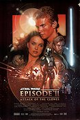 Episode II Attack of the Clones Poster 68x102cm USA RO tiny piece missing original