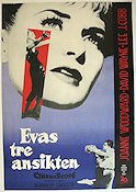 Three Faces of Eve 1958 poster Joanne Woodward