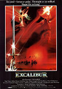 Excalibur 1981 Movie poster Helen Mirren John Boorman