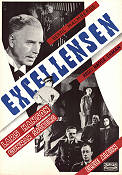 Excellensen 1944 Movie poster Lars Hanson Hasse Ekman