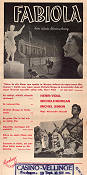 Fabiola 1949 movie poster Michele Morgan Alessandro Blasetti