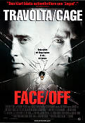 Face Off 1997 Movie poster John Travolta John Woo