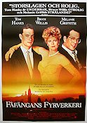 The Bonfire of the Vanities 1990 Movie poster Tom Hanks Brian De Palma
