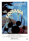 Fantasia 1942 Movie poster Mickey Mouse