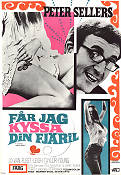 I Love You Alice B Toklas 1969 Movie poster Peter Sellers Hy Averback