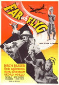 Far och flyg 1955 Movie poster Dirch Passer G�sta Bernhard