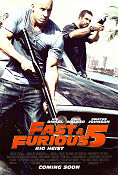 Fast and Furious 5 2011 Movie poster Paul Walker